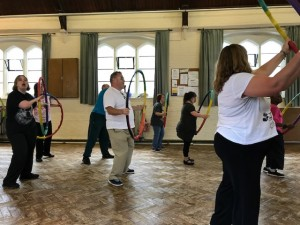 Exercise with Hula Hoops